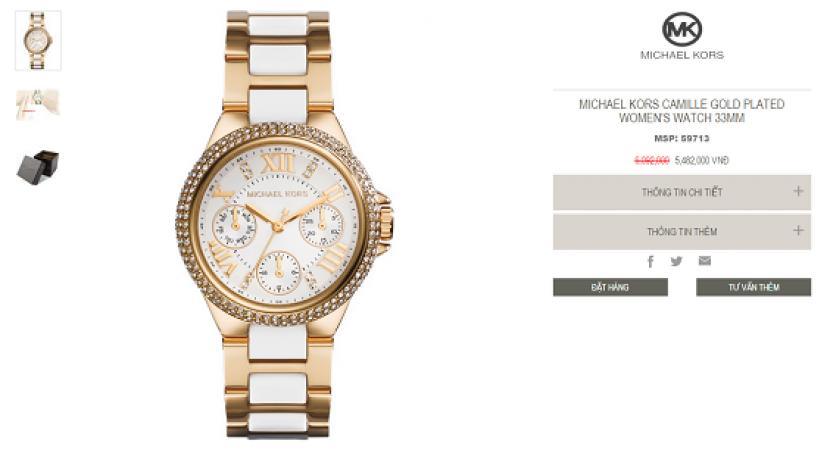 chủ ý thanh lý đồng hồ michael kors của các cửa hàng 6