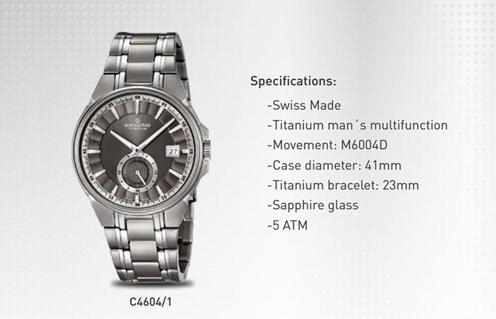 3 Bộ Sưu Tập Mới Candino Titanium Watches Giới Thiệu Năm 2016