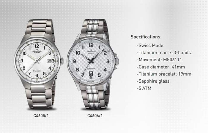 4 Bộ Sưu Tập Mới Candino Titanium Watches Giới Thiệu Năm 2016