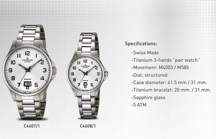 5 Bộ Sưu Tập Mới Candino Titanium Watches Giới Thiệu Năm 2016